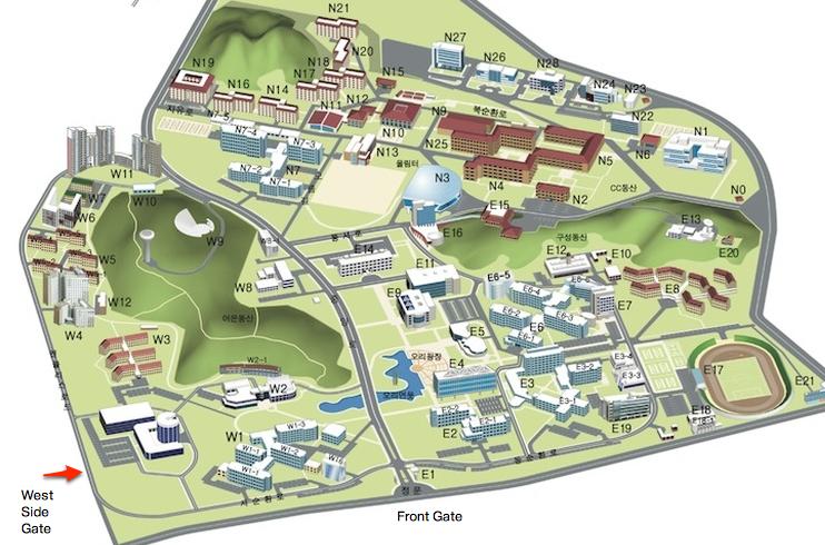 KAIST Campus Map